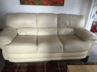 2 seater electric recliner and 3 seater standard sofa - beige
