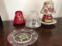 Yankee candle small candle jar & glass wear......Christmas