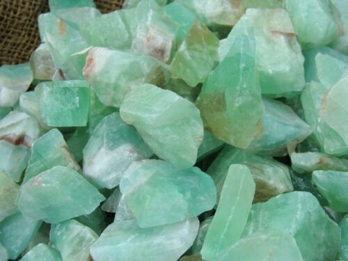 2000 Carat Lots of Green Calcite Rough + A FREE Faceted Gemstone - Very Nice!