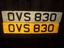 Number Plate OVS 830