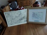 Map of old Middlesbrough also framed old Middlesbrough streets 1845. Both in excellant condition