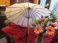 Brand new Ivory / Champagne Umbrella