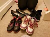 Budle of girl's shoes size 13.5, 1 and 2