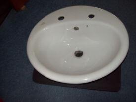 """Ideal Standard"" White Ceramic Inset Type Basin"