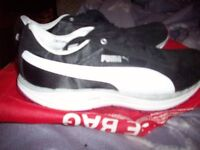 ladies fitness black and white puma bioride trainers size 7 and a 1/2