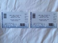 Jimmy Carr 2 x Tickets Plymouth Flat Seating Row D 6th May