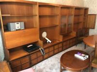Set of Bookshelves with bureau Display and Drinks Cabinet