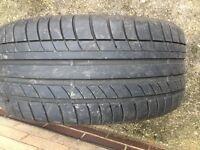 Pair of high performance tyres. 245/40R18 Avon ZZ597Y XL. Part worn.