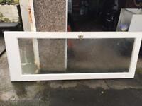 Vintage glass panel internal door