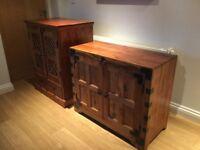 Sheesham wood living room furniture - tv unit, cabinet and pot cupboard