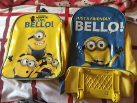 Minions suitcase and bag brand new