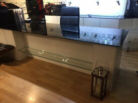Bespoke Black Glass Top Office Desk