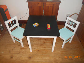 Childrens Chalkboard/Dining/Play Table Set £60