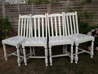 4 dining chairs for sale in Great Shelford, Cambridge.