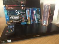 Panasonic 3d blu Ray Player and blu Ray movies some sealed