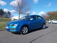 FORD FOCUS ZETEC HATCHBACK STUNNING BLUE NEW SHAPE 2005 ONLY 59K MILES BARGAIN £1750*LOOK*PX/DELIVER