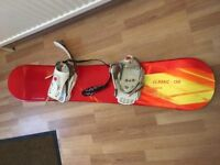 A Solomon Snowborad Womans Classic 138 with bindings (Made in France) HARDLY USED!