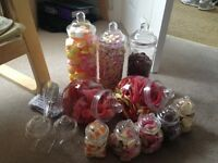 11 x Pick & mix sweet jars, for wedding favours