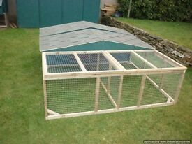 very big rabbit hutch and run