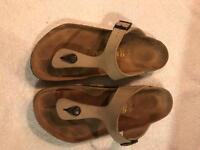 Birkenstocks size 9 light tan leather hardly worn