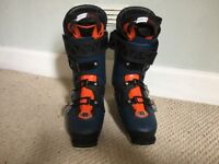Salomon QST Pro 120 2017 size 27.5 Ski Boots Petrol Blue/Black/Orange