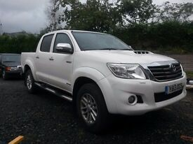 Toyota Hilux Invincible, Low mileage, good condition, auto, reverse camera, sat nav, cloth interior