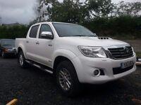 Toyota Hilux Invincible, Low mileage, good condition, auto, reverse camera, sat nav, cloth interior