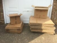 Moving house? 75 cardboard boxes (39 big, 39 small) for sale