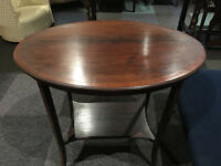 Gorgeous Edwardian Oval Mahogany Two Tier Occasional Table