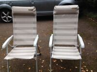 Garden chairs, foldable
