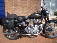 "ROYAL ENFIELD BULLET 350, 2007, 5,000 MILES, MOT 2018, ""R.E"" SCREEN & PANNIERS, SUPERB EXAMPLE"