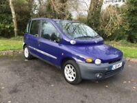 6 SEAT FIAT MULTIPLA 1.9 DIESEL MPV ESTATE CAR 130K 9 MOT HISTORY £595
