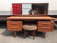 Teak Gplan fresco dressing Table and stool
