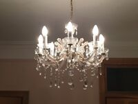 Two chandeliers