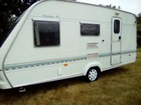 Elddis xl slipstream 4 berth caravan 1999 no damp with bunk beds and large end wash room