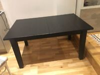 Extensible table Ikea stornas Black Brown