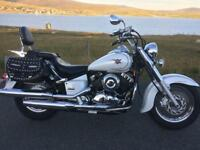 Yamaha Dragstar 650 classic, 8k only, years mot, stunning pearl paint.