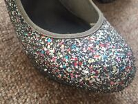 ASOS Multi Coloured Glittery Shoes - size 7
