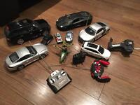Remote control cars and helicopter