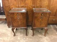 Circa 1950s matching pair of bedside cabinets