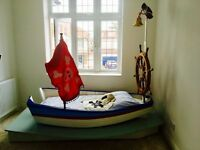Childs wooden Boat Bed