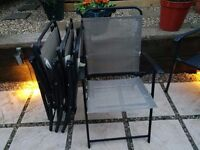 GARDEN CHAIRS SET OF FOUR