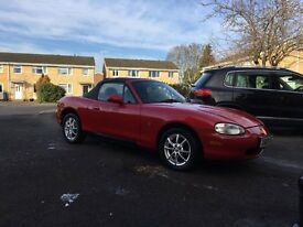 Lovely Mazda MX5, MOT Jan 2018, drives very well, new soft top with glass window, lovely car.