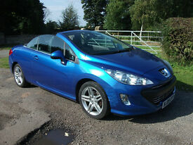 Peugeot 308 CC Diesel Convertible, Full Leather, Metallic blue