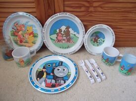 Toddlers bowls. plates, cups etc