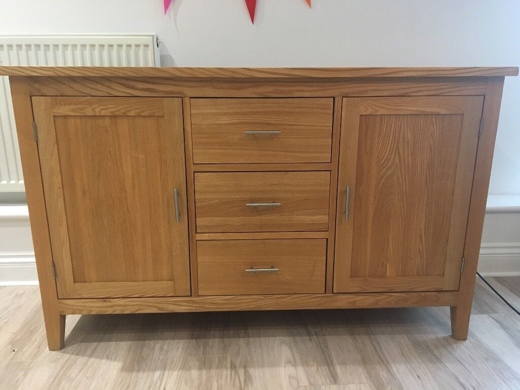 Oak Sideboard and Coffee Table