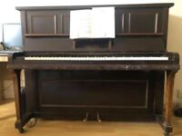 Overstrung upright piano. Internally very good. Big sound, lovely to play. FREE DELIVERY