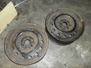 Pair of Ford Laser 14x5.5 Steel Wheels Black 4x100 PCD Mazda 323 Kalamunda Kalamunda Area Preview