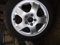 2 x GENUINE MERCEDES AlLOY WHEELS AND TYRES WILL FIT ML-R Class VITO/VIANO
