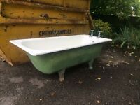 Quality antique cast iron baths (matching pair)